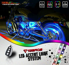 8x LED Underglow Accent Light Strip Kit 7 Colors For Harley Davidson Motorcycles