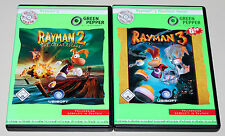 2 PC Giochi Set-Rayman 2 The Great Escape & Rayman 3 Hoodlum Havoc-come nuovo