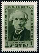 Argentina 1960 SG#986 J.B. Alberdi Statesman MNH #D33028