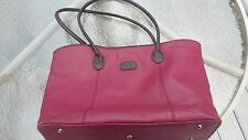 I Santi women pebbed leather tote shopper bag Handbag purple Large Italy
