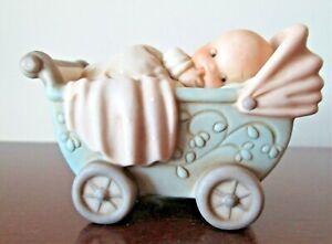 Memories of Yesterday Figurine Baby in Carriage  1994   Enesco