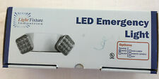 Two Head LED Emergency Light with Battery Backup