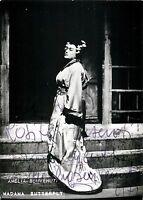 Opera - Autografo del soprano Amelia Benvenuti (Treviso, 1927)