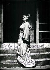 Autografo del soprano Amelia Benvenuti (Treviso, 1927)