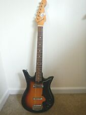 1960's Teisco Del-Rey Tulip Tobacco Sunburst Electric Guitar - Plays great!