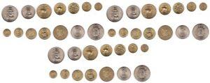 Peru 3 pcs x set 7 coins 5 10 25 Centavos 1/2 1 5 10 Soles 1969 - 1974 aUNC/ UNC