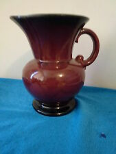 USA POTTERY PITCHER BURGANDY RED #572