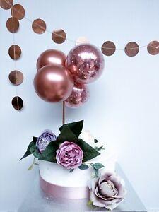 Mini Confetti Balloon Cake Topper Arch Garland Birthday Wedding Decor Rose Gold