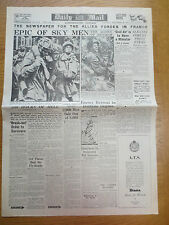 WW2 Newspaper September 28 1944 DAILY MAIL PARAS Arnhem Airborne Paratroopers