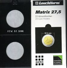 25 BLACK 27.5 mm  MATRIX LIGHTHOUSE  SELF ADHESIVE 2 x 2 COIN HOLDERS