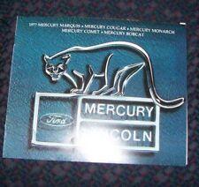 1977 Mercury Marquis Cougar Monarch Comet Bobcat Sales Brochure
