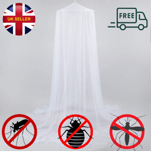 White Dome Mosquito Mesh Net Portable Mosquito Net Bed Canopy Insect Protect UK