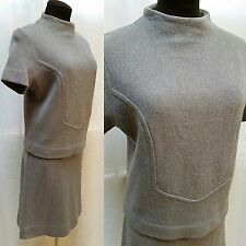 Vintage Knitwear By Glasgo Sweater & Matching Skirt - Grey - Size M/L