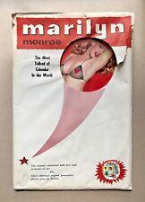 Vintage VTG Original Marilyn Monroe 1955 Pin-Up Calendar Cowgirl Original Sleeve