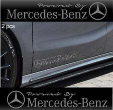 2pcs Powered by MERCEDES BENZ Stickers AMG Decals SILVER
