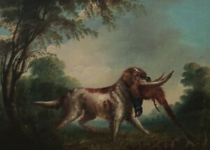 Colin Graeme 1858 - 1910 - Hunting Dog With Pheasant IN Maul