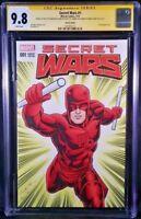MARVEL Comics SECRET WARS #1 CGC SS 9.8 DAREDEVIL Original Art Sketch PUNISHER