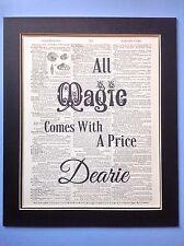 Tutta la magia viene fornito con un prezzo Dearie... IDEA REGALO pagina di dizionario Antiquariato Arte
