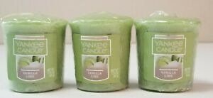 Yankee Candle VANILLA LIME SCENT VOTIVES Pack of 3 EACH 1.75oz 49gram NEW