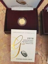 1/10 oz. Gold American Eagle Coin - BU - 2018