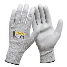 PU ANTI CUT RESISTANT WORK SAFETY GLOVES BUILDERS GRIP PROTECTION LEVEL 5