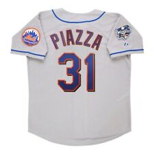 Mike Piazza New York Mets Grey 2000 World Series Men's Jersey (M-2XL)