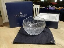Faberge Large Crown Crystal Bowl House Of Carl Faberge By Franklin Mint