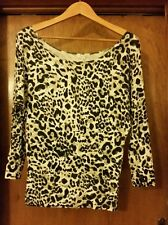 VALLEYGIRL Leppard print long-sleeve top Size XS