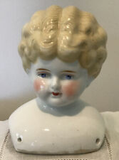 Antique Turned Head - Blue Eyed - Blonde China Shoulder Head