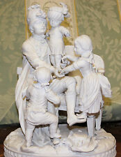 German Bisque Porcelain Figural Group of Children late 18th/early 19th Cntr.