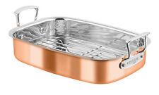 Chasseur Escoffier Roasting Pan W Rack 35 x 26 RRP $429.95 Copper Steel Roaster