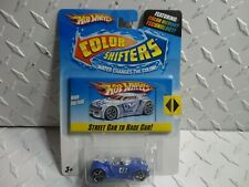 HOT WHEELS Color Shifters Street Car to Race Car Blue High Voltage