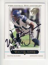WALTER JONES SEATTLE SEAHAWKS 2005 TOPPS #46 HOF FLORIDA STATE AUTOGRAPHED CARD