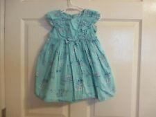 Crazy 8 Girls Size 2t Blue Dress With Ruffles & Bows