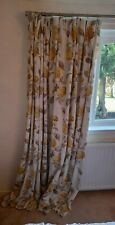 laura ashley hydrangea camomile Curtains 80x90 pinch pleat and lined.