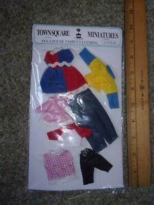 KIDS AUTUMN  CLOTHING SET  - WEARABLE  - DOLL HOUSE MINIATURE
