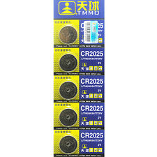 Distinct 5Pcs CR2025 Batteries 3V Coin Cell Button for Toys Remote Weigher Board