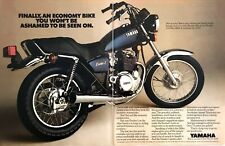 "1980 Yamaha Exciter I Motorcycle photo ""Economy Bike"" 2-page vintage print ad"