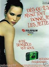 Publicité advertising 1997 Appareil photo Fotonex Quicksnap Fujifilm