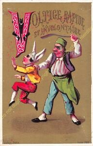 chromo illustration AUBRY PARIS humour Alphabet lettre V