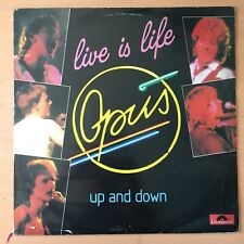 OPUS Live is Life b/w Up And Down UK Press 12""