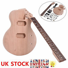 More details for diy lp style electirc guitar kit mahogany body neck build your own guitar w9m0