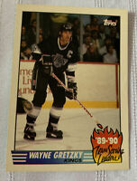 1990 Topps NHL Los Angeles Kings Wayne Gretzky #12 Card Team Scoring Leader