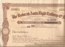 India share certificate: The Howrah-Amta Light Railway Co Ltd large share