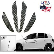 JDM Black Real Carbon Fiber Car Side Door Edge Protection Guards Trims Stickers