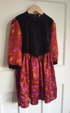Vintage Traditional Velour Girls Dress Size 7-8 Years Party Winter