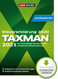 TAXMAN professional 2021 (Steuerjahr 2020) - 3-Platz-Lizenz, Download, Windows