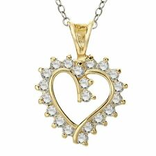 Heart Pendant with Cubic Zirconia in 14K Gold Plate