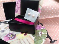 Orecchini di perle rosa grande in Scatola Regalo NUOVA Regalo di Natale Stocking Filler