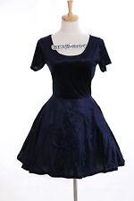 K-12 Gr. S-M Kleid dress Dunkel Blau kurz short Harajuku Japan Gothic Fashion